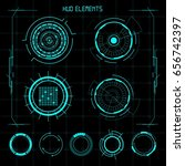 hud futuristic elements | Shutterstock .eps vector #656742397
