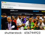 Small photo of LONDON, UK - JUNE 8TH 2017: The homepage of the official website for UEFA, on 8th June 2017. UEFA is the administrative body for association football in Europe.