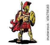 spartan warrior | Shutterstock . vector #656758183