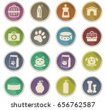 goods for pets vector icons for ... | Shutterstock .eps vector #656762587