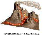 volcano erupting.  | Shutterstock .eps vector #656764417