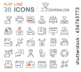 set line icons  sign and... | Shutterstock . vector #656765773