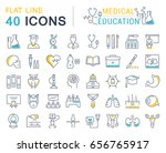 set line icons  sign and... | Shutterstock . vector #656765917