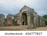 ruins of the convent of... | Shutterstock . vector #656777827