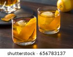 homemade boozy old fashioned... | Shutterstock . vector #656783137