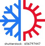 heating and cooling icon | Shutterstock .eps vector #656797447