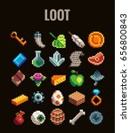 pixel art loot set for video...