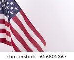 united states flag on a white... | Shutterstock . vector #656805367
