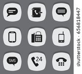 set of 9 editable phone icons....