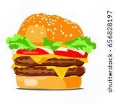 vector drawing of hamburger...   Shutterstock .eps vector #656828197