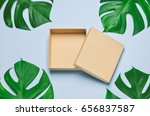 brown recycle box opened on... | Shutterstock . vector #656837587