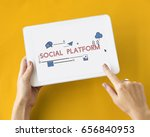technology social media... | Shutterstock . vector #656840953