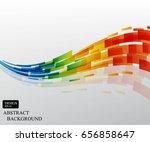 colorfu curvel line pattern...   Shutterstock .eps vector #656858647