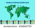 world population day | Shutterstock .eps vector #656863753