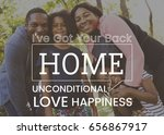 family parentage home love... | Shutterstock . vector #656867917