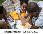 black family enjoying summer... | Shutterstock . vector #656872567