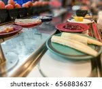 dishes of variety food on... | Shutterstock . vector #656883637