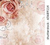 Stock photo grunge beautiful roses background of set 65689114