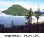 mount bromo volcano  east java  ... | Shutterstock . vector #656917597