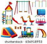 different play stations in... | Shutterstock .eps vector #656918953