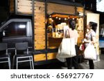 food truck blurred on purpose | Shutterstock . vector #656927767