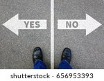yes no right wrong answer... | Shutterstock . vector #656953393