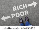 Small photo of Poor rich poverty finances financial success successful money business concept finance