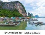 small shrimp farms in phang nga ... | Shutterstock . vector #656962633