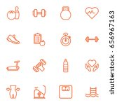 set of 16 bodybuilding outline... | Shutterstock .eps vector #656967163