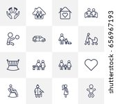 set of 16 people outline icons... | Shutterstock .eps vector #656967193