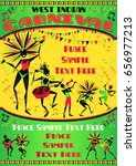 west indian carnival poster... | Shutterstock .eps vector #656977213