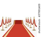red carpet with stairs  podium  ... | Shutterstock .eps vector #657001603