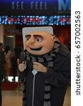 Small photo of Bangkok, Thailand - June 10, 2017: Felonious Gru Mascot from Movie Despicable Me 3 at the theater