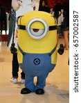Small photo of Bangkok, Thailand - June 10, 2017: Minions MEL Mascot from Movie Despicable Me 3 at the theater