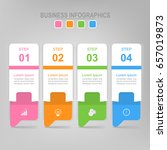 infographic template of four... | Shutterstock .eps vector #657019873