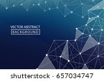 geometric graphic background.... | Shutterstock .eps vector #657034747
