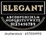 vintage font typeface vector... | Shutterstock .eps vector #657034993
