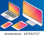 isometric vector set of... | Shutterstock .eps vector #657052717
