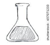 chemistry flask lab   Shutterstock .eps vector #657071233