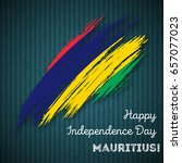 mauritius independence day... | Shutterstock .eps vector #657077023