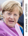 Small photo of April 28, 2017, Sierksdorf: Angela Merkel on a election campaign at the family day from the CDU