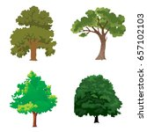 tree set | Shutterstock .eps vector #657102103