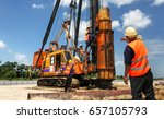 mechanic repair heavy machine... | Shutterstock . vector #657105793