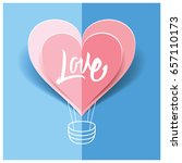 love card origami for the... | Shutterstock .eps vector #657110173