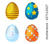 easter eggs spring colorful... | Shutterstock .eps vector #657112027