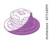 breakfast food design | Shutterstock .eps vector #657118393