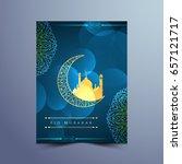 abstract stylish eid mubarak... | Shutterstock .eps vector #657121717