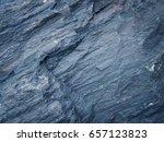 dark blue slate background or... | Shutterstock . vector #657123823