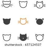 cat head icons | Shutterstock .eps vector #657124537