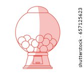 candy vending machine | Shutterstock .eps vector #657125623